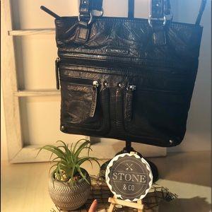 Stone & Co Black Leather Shoulder Bag